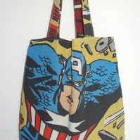 Upcycled DC Comic Fabric Tote