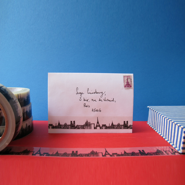 Paris Skyline Decorative Sticky Tape