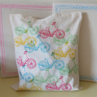 Multicoloured Bicycle Tote Bag