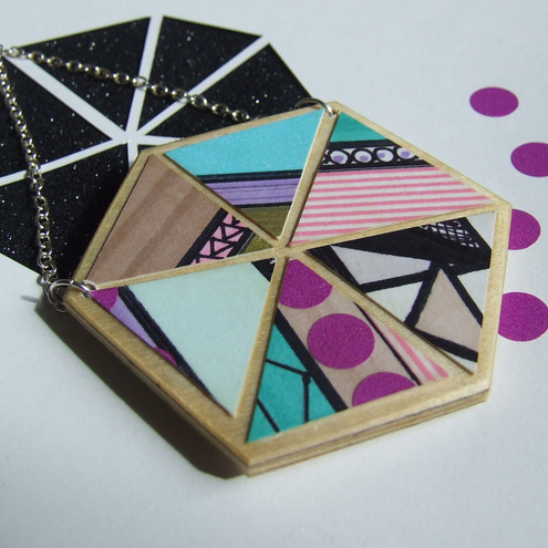 Wooden Kaleidoscope Necklace