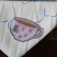 Teacup Stitches Necklace