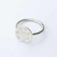Silver Ring - dots and circles.