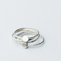 Silver Stacking Ring - four