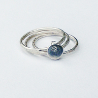 Silver Stacking Ring - three