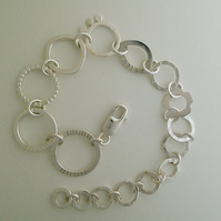 Decreasing Circles Silver Bracelet
