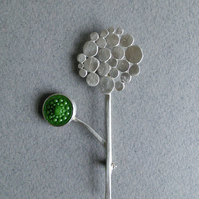Silver Allium Brooch - medium