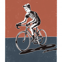 The Cyclist A3 poster-print