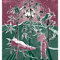 Sleepwalker Encounters His Father As A Horse in A Tomato-Plant Forest A3 poster
