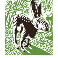 The Black Hare A3 poster-print