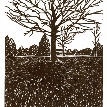 Tree Study No.2 (Clay Wood) linocut print