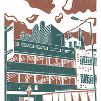 Sheffield City View No.3 A3 poster print