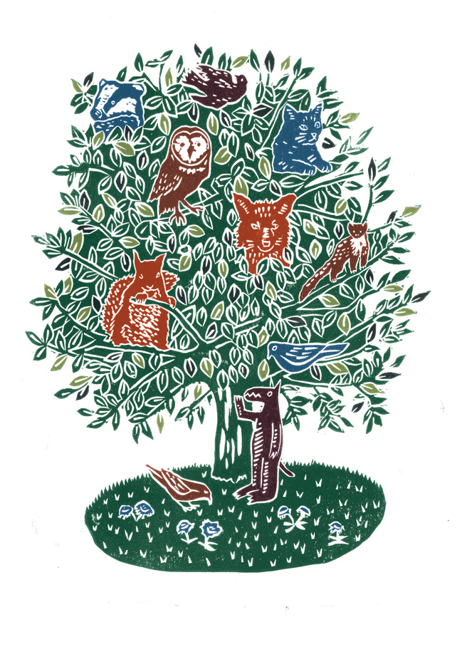 The Folk Forest No.4 poster-print