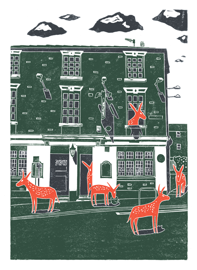 Pub donkeys A2 screen print