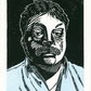 Simon Weston 2-colour linocut print for 'Changing Faces' charity
