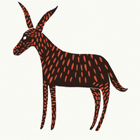 Mystery Donkey No.1 A2 screen print
