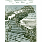 Cromer No.2 two-colour linocut print