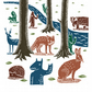 The Folk Forest No.6 A3 poster-print
