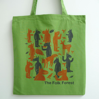 Folk Forest Tote Bag