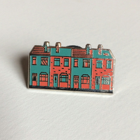Terrace enamel pin badge