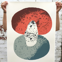 Stone Composition No.1 5-colour screen-print (76x56cm)