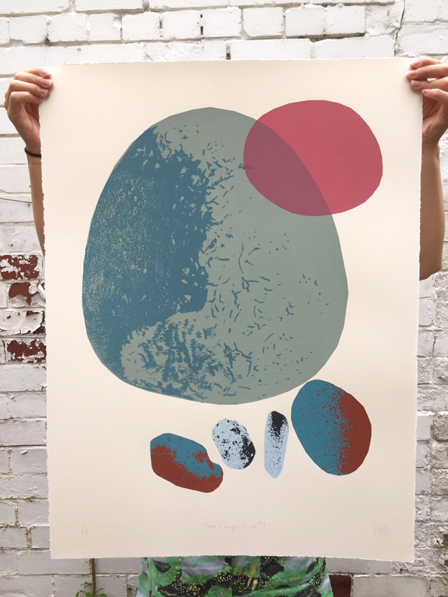 Stone Composition No.3 7-colour screen-print (76x56cm)