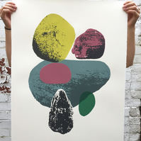 Stone Composition No.4 6-colour screen-print (76x56cm)
