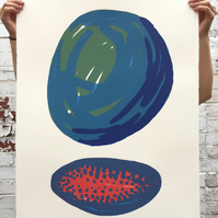 Stone Composition No.5 4-colour screen-print (76x56cm)