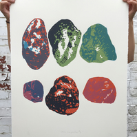 Stone Composition No.6 5-colour screen-print (76x56cm)