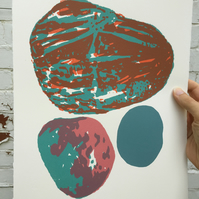 Stone Composition No.7 4-colour screen-print (38x28cm)