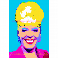 Bet Lynch Coronation Street Warhol style pop art 11 x 8 inches