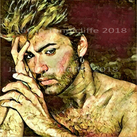George Michael 10 x 8 inches art print - A different corner