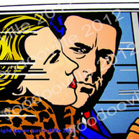Mad Men Don & Betty Draper art print 10 x 8 inches