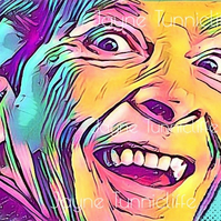 Kenneth Williams  11 x 8 inches art print - Bona eek
