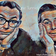 Morecambe and Wise  11 x 8 inches art print - Positive Thinking