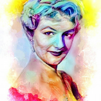 Joan Sims Carry On Joan 11 x 8 inches art print