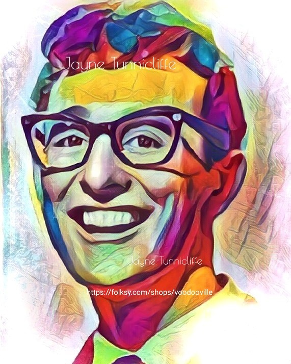 Buddy Holly 11 x 8 inches art print - Well Alright