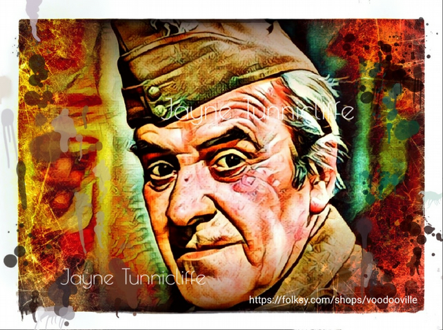 John Le Mesurier Dad's Army 11 x 8 inches art print - Rather lovely