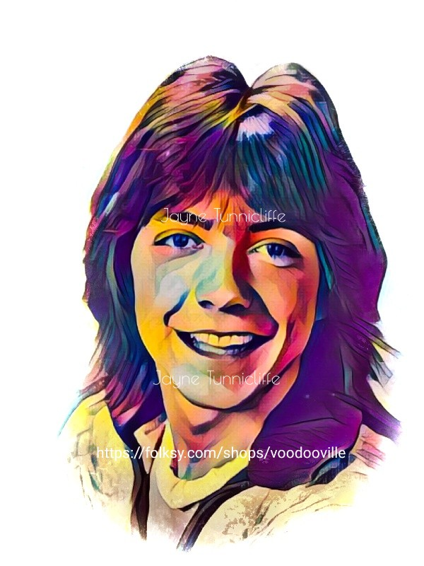 David Cassidy 11 x 8 inches art print - I think I love you