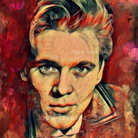 Billy Fury 11 x 8 inches art print - Wondrous face