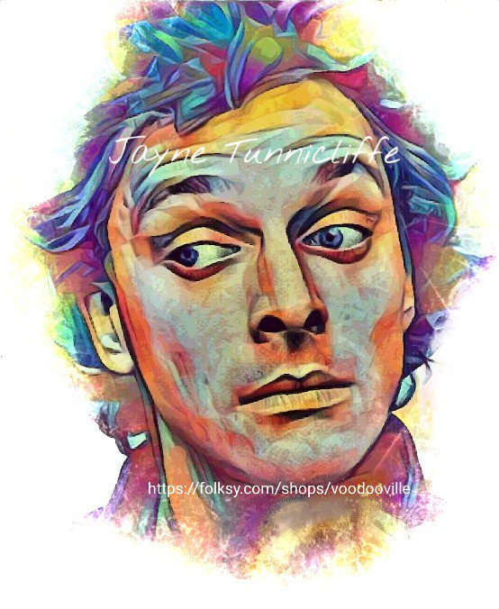 Rik Mayall 11 x 8 inches art print - Always...around