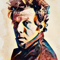 Tom Waits 11 x 8 inches art print - DowntownTrain
