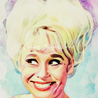Barbara Windsor  Carry On Nurse 11 x 8 inches art print