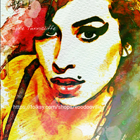 Amy Winehouse 11 x 8 inches art print - Back to black