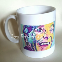 Kenneth Williams Carry On Laughing mug