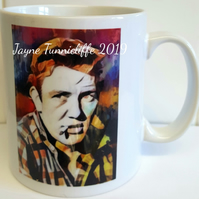 Albert Finney mug - Dont let the ........ grind you down