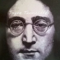 John Lennon 11 x 8 inches  black and white art print