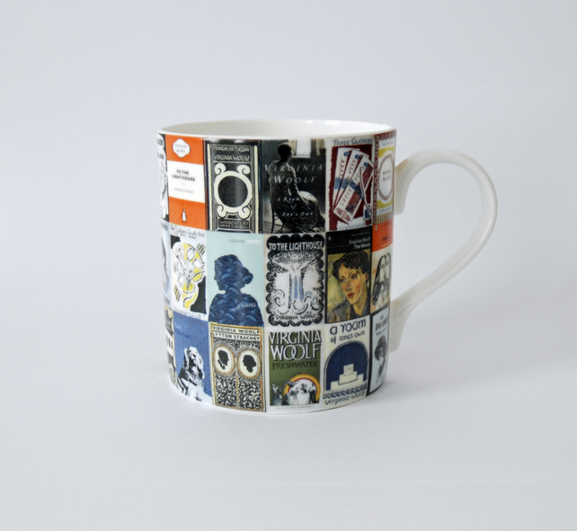 Virginia Woolf Book Covers Design Ceramic Mug
