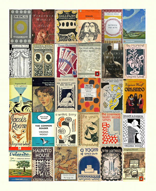 Virginia Woolf Book Covers Fine Art Print 10 x 8 inches