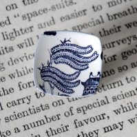 Willow Leaves -Willow Pattern Adjustable Ring