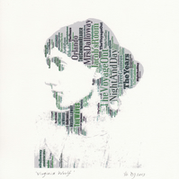 Virginia Woolf Book Title silhouette Fine Art Print